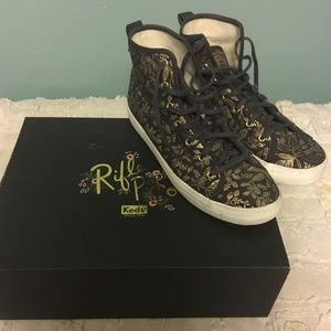 Rifle paper co.  for Keds high top sneakers